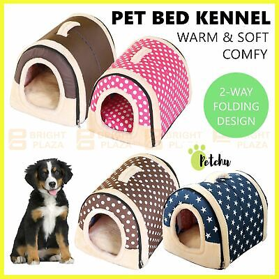 AU31.95 • Buy Pet Dog Cat House Kennel Soft Igloo Bed Cave Puppy Doggy Bed Warm Cushion Beds