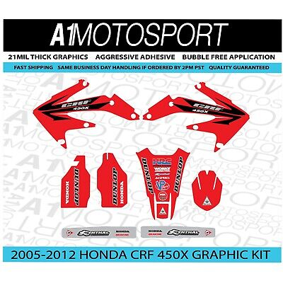$64.95 • Buy Honda Crf 450x Team Ride Red Graphic Kit 2005 2006 2007 2008 2009 2010 2011 2012