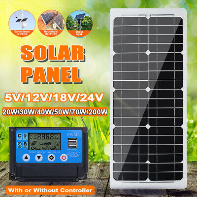 5/12/18V 30/40/50/70W Solar Panel Battery Charger Controller RV  • 23.41£