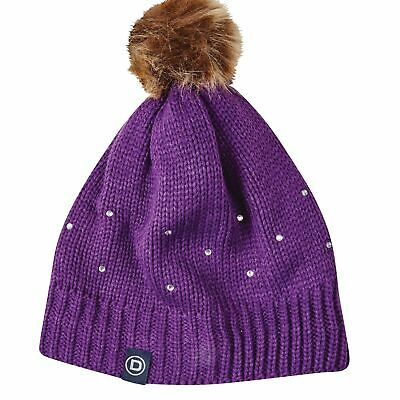 Dublin Sparkle Bobble Beanie Acrylic Wool Fabric With Knitted Outer And Soft Fle • 14.51£