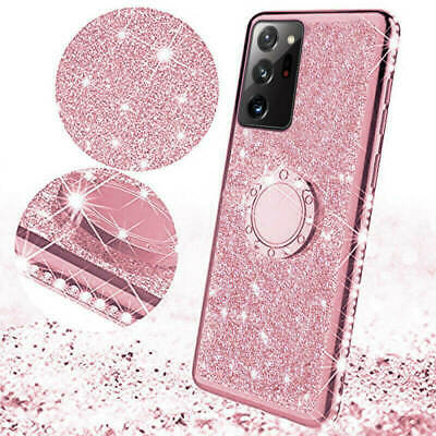 AU12.99 • Buy For Samsung Galaxy S20 Ultra S10 S8 S7 Plus Bling Glitter Ring Holder Case Cover