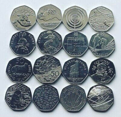 Rare 50p Coins Royal Mint Olympic Beatrix Potter Kew Isle Of Man WWF Fifty Pence • 3.89£