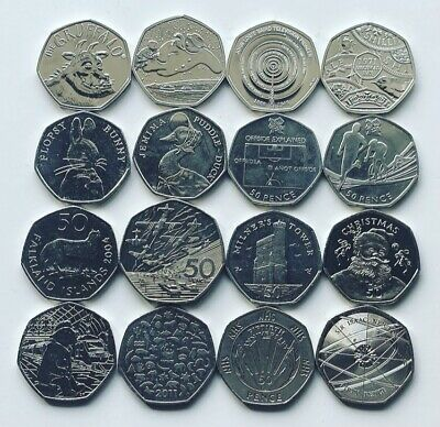 Rare 50p Coins Royal Mint Olympic Beatrix Potter Kew Isle Of Man WWF Fifty Pence • 2.89£