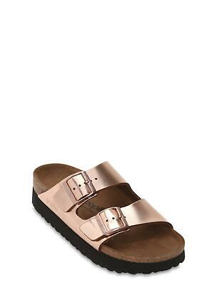 Birkenstock Papillio Arizona Rose Gold Platform Size 38 Narrow AS IS  • 43.41£