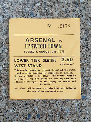 £7.50 • Buy 1979 - ARSENAL V IPSWICH TOWN TICKET - FIRST DIVISION - 79/80