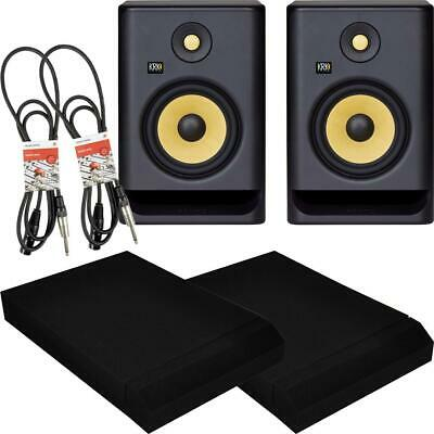 KRK ROKIT RP5 G4 Active Studio Monitors With Isolation Pads And Pro Cables PAIR • 299£