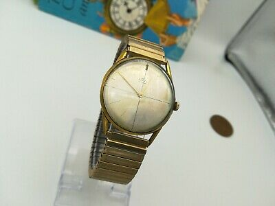 Vintage Gents Gold Plated  Uno  17j Slim Mechanical Watch. • 29.99£