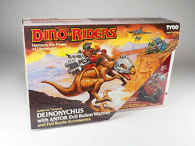 TYCO - DINO-RIDERS - Deinonychus With Antor - Boxed - Exceptional Conditions • 445.25£