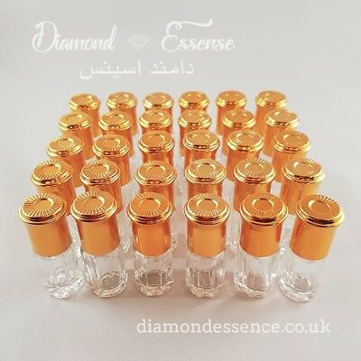 Brand New 24 X 3ml Empty Attar Glass Perfume Bottles(With Roller Balls). • 10£