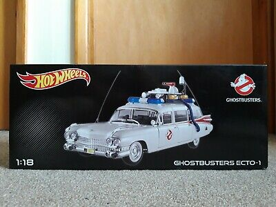 FACTORY SEALED, BOXED - Hotwheels Mattel Diecast Ghostbusters ECTO-1 Scale 1:18 • 235£
