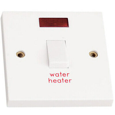 £6.97 • Buy Water Heater Switch Immersion 20A Double Pole With Neon Indicator Light