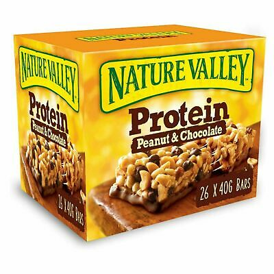 £19.79 • Buy Nature Valley Protein Peanut & Chocolate Gluten Free Cereal 40g Pack Of 26 Bars