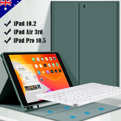 AU19.95 • Buy For IPad 7th 8th Gen 10.2  10.5  Air Bluetooth Keyboard Case Cover Pencil Holder