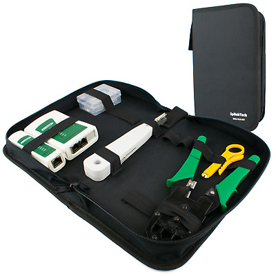 Networking Tool Kit | Ethernet RJ45 Connectors Crimper Punch Down Cable Stripper • 7.99£