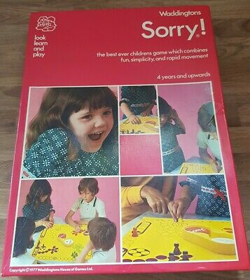 Vintage Sorry Board Game-waddingtons House Of Games  • 12.50£