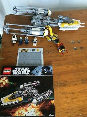 AU158.95 • Buy Lego 75172 Star Wars, Y-Wing Star Fighter, Pre-Owned, Complete No Box.