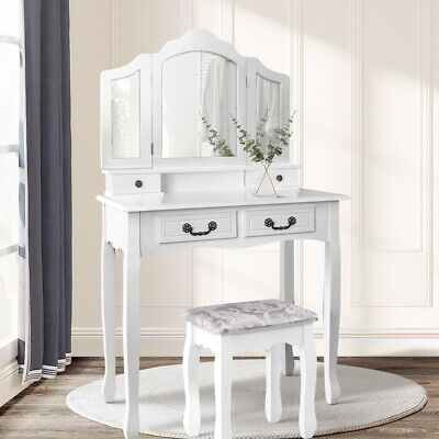 AU169.90 • Buy Artiss Dressing Table Stool Mirrors Jewellery Cabinet Drawers Tables Organizer