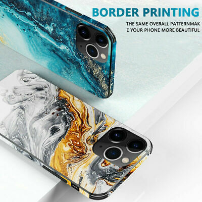 AU14.98 • Buy Marble Glass Back Phone Case Bumper Cover For IPhone 11 Pro Max XS XR 6 7 8 Plus