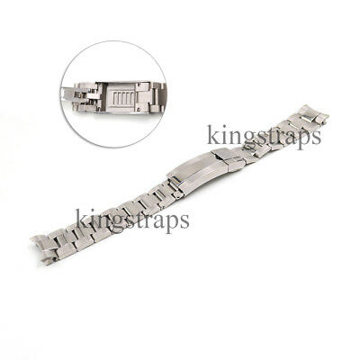 $ CDN34.69 • Buy 20mm Silver Steel Watch Band Oyster Bracelet Glide Lock Clasp For Submarinar