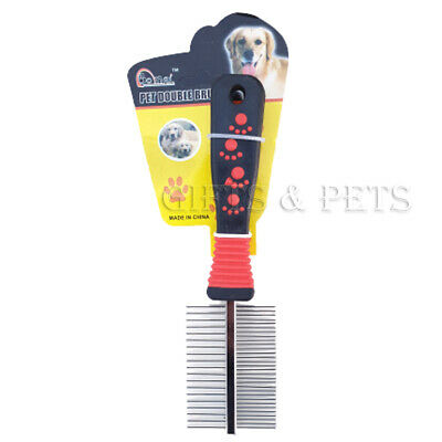 Comb Double Sided Pet Cat Dog Metal Grooming Brush Hair Comb Fur Rake Tool • 2.95£
