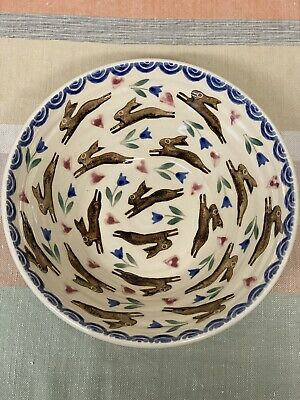 Bell Pottery Spongeware Small Salad Bowl • 49£
