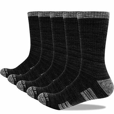 YUEDGE 5 Pairs Terry Cotton Crew Socks Mens Athletic Sports (9-11.5|Dark Grey) • 28.88£