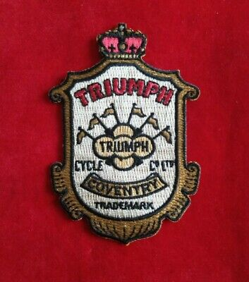 Triumph Motorcycle Vintage Clothing Patch Coventry Trademark Iron On Stitch On • 3.95£