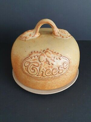 Vintage 1970s 1980s Studio Pottery Brown Stoneware Cheese Dome Bell Dish  • 15£
