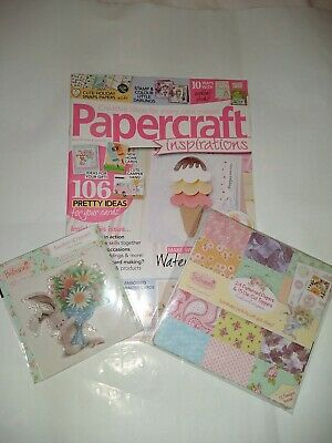 £5.50 • Buy Papercraft Inspirations Magazine Issue No. 141 August 2015 With The Free Gifts