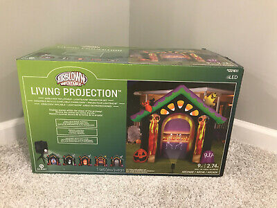 $ CDN145.56 • Buy Halloween Airblown Inflatable Gemmy Living Projection Archway BRAND NEW