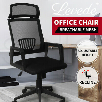 AU89.99 • Buy Gaming Office Chair Executive Computer Chairs Work Seat Mesh Recliner Racer