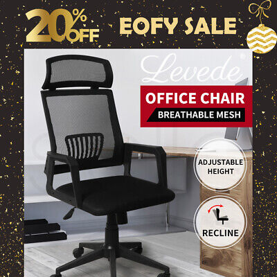 AU85.99 • Buy Levede Gaming Office Chair Executive Computer Chairs Work Seat Mesh Recliner