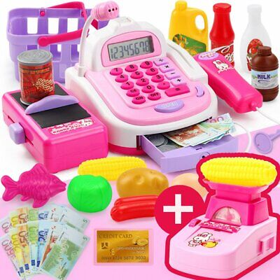 £16.98 • Buy Kids Toy Supermarket Till Electronic Cash Register Shoping Accessories Play Set