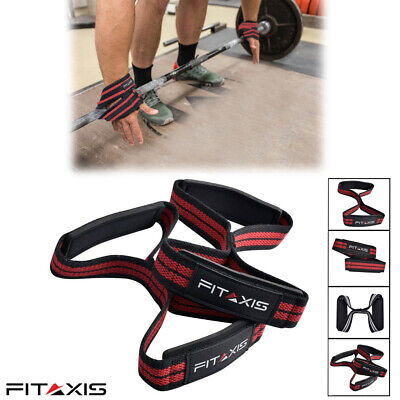 £8.83 • Buy FITAXIS Figure 8 Weight Lifting Straps Heavy Weight Training Deadlifting Gloves