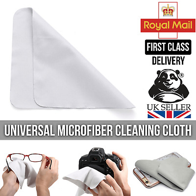 Microfiber Screen Cleaning Cloth Phone Camera Glasses Sunglasses Spectacles Lens • 2.50£