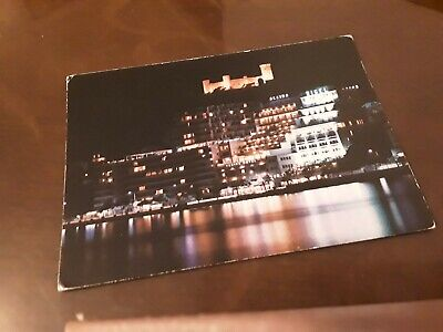 POSTCARD SPAIN - PALMA DE MALLORCA NIGHT VIEW MARITIME PROMENADE Olympics Stamp  • 0.99£