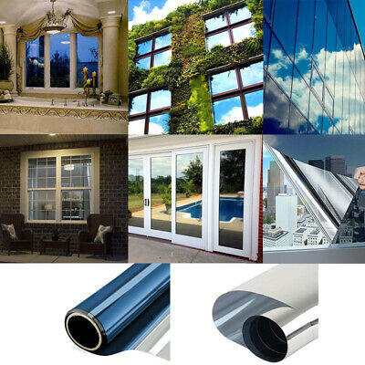 MIRROR SILVER - PRIVACY ONE WAY WINDOW TINTING PRO TINT FILM 51, 76, 100cm • 4.99£