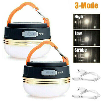 £8.89 • Buy 4 Mode LED Camping Tent Light USB Rechargeable Lantern Mini Portable Lamp Torch