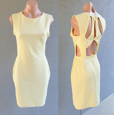 AU26.50 • Buy SALE ❤️ Y-LONDON Sleeveless Sheath Dress Yellow Size S FREE POSTAGE L655