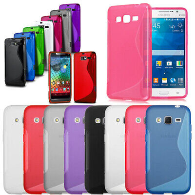 AU5.31 • Buy S-Line Shockproof Rubber Gel Case Cover For Samsung IPhone Sony Xperia Huawei