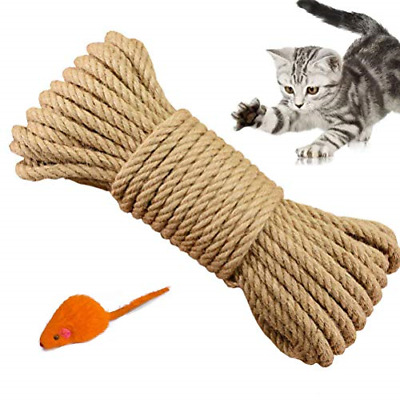 Yangbaga Cat Natural Sisal Rope For Scratching Post Tree Replacement, 66FT  • 12.73£