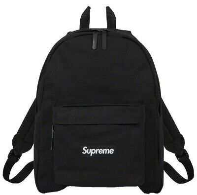 $ CDN265 • Buy Supreme Canvas Backpack (Black) **IN HAND**