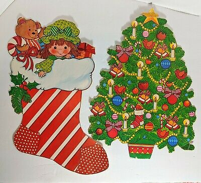 $ CDN19.72 • Buy Vintage Decorations Cardboard Christmas Tree Stocking