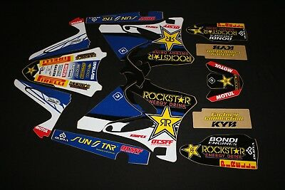 AU119 • Buy Yamaha Yz125 - Yz250 2002-2014 Rockstar Mx Graphics Kit Sticker Kit Stickers