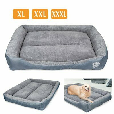 XL-XXXL Dog Beds Pet Cushion House Waterproof Soft Warm Bed Kennel Blanket Grey • 20.95£