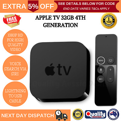 AU237.96 • Buy Brand New Apple TV 4th Generation 32GB HDMI Media Streamer Full High Definition