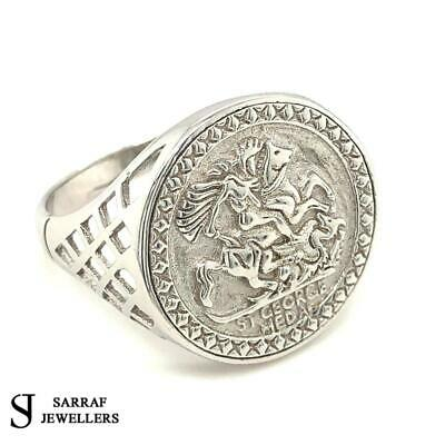 £34.99 • Buy  SOVEREIGN RING 925 Sterling Silver CLASSIC St George Dragon Slayer ALL Sizes