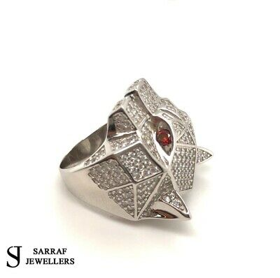 £54.90 • Buy WOLF DESIGN 925 Sterling Silver Mens Solid Pinky Ring ALL SIZES BRAND NEW