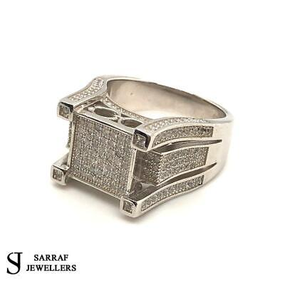 £49.90 • Buy SQUARE DESIGN 925 Sterling Silver Mens Solid Pinky Ring ALL SIZES BRAND NEW