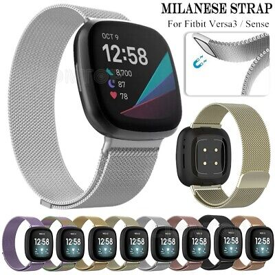 $ CDN9.35 • Buy Magnetic Milanese Stainless Watch Wrist Band Strap For Fitbit Versa 3 / Sense